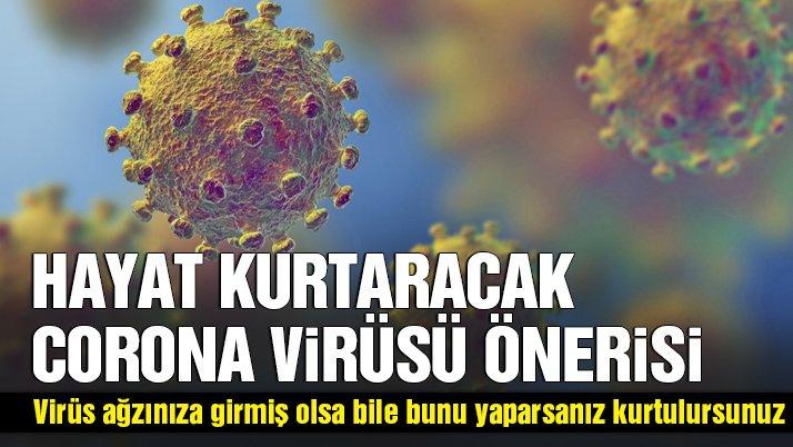 Hayat Kurtaracak Öneri: Virüs Ağzınıza Girse Bile Bunu Yaparsanız Kurtulursunuz