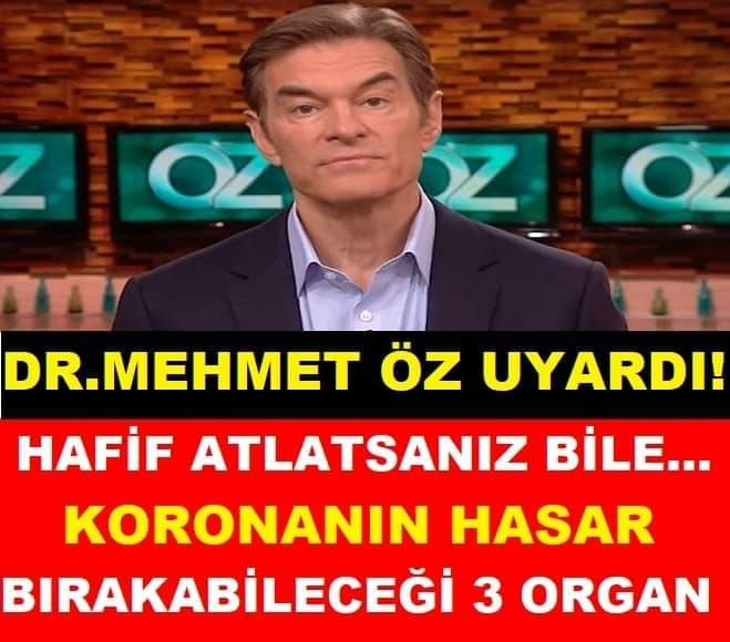 Covid-19'un hasar bırakabileceği 3 organ! Dr. Mehmet Öz uyardı: