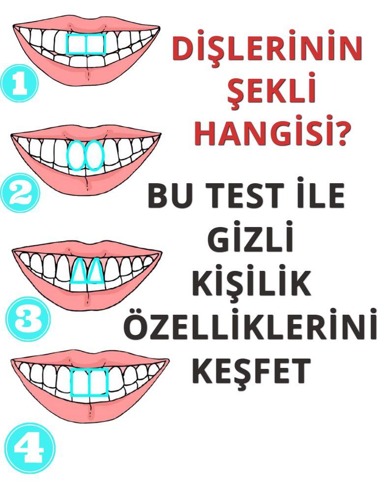 Dişlerinin şekli hangisi? Bu test gizli kişilik özelliklerinizi ortaya çıkarıyoruz