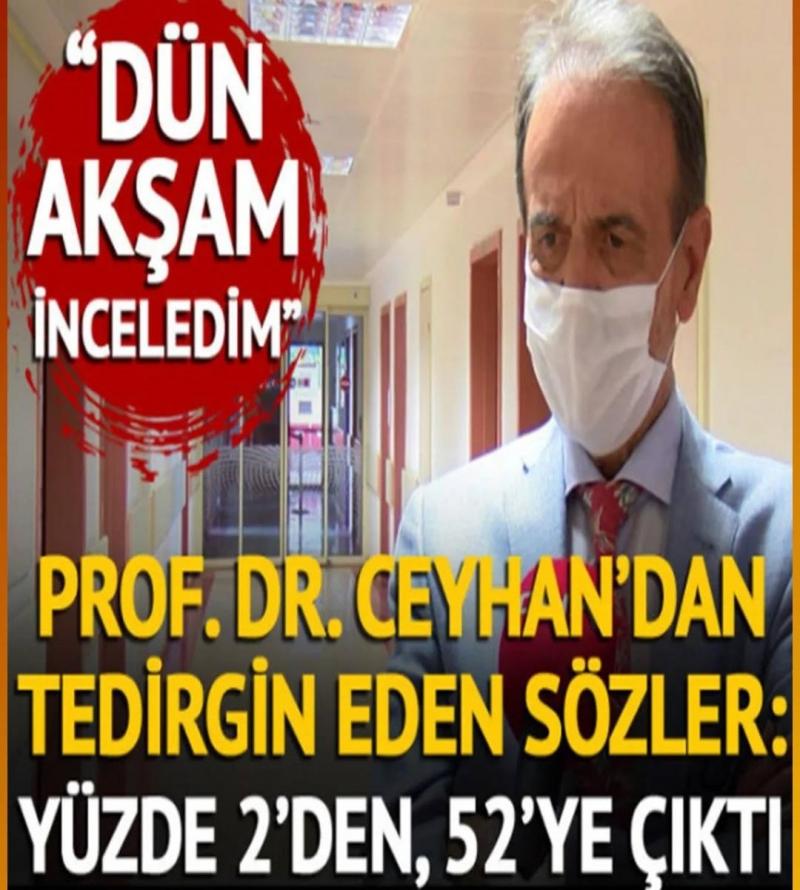 Prof. Dr. Ceyhan'dan tedirgin eden açıklama