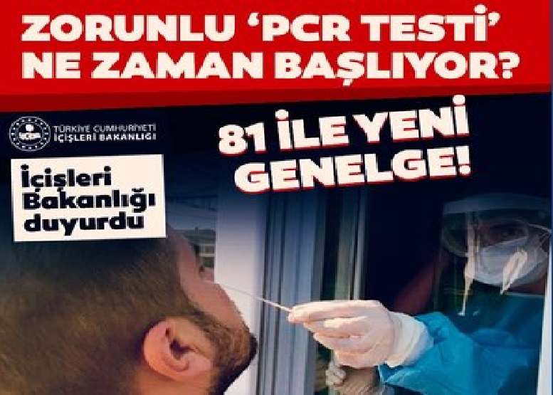 Son Dakika: Yüz Yüze Eğitime Kısa Bir Süre Kala, İçişleri Bakanlığı'ndan Flaş PCR Testi Genelgesi