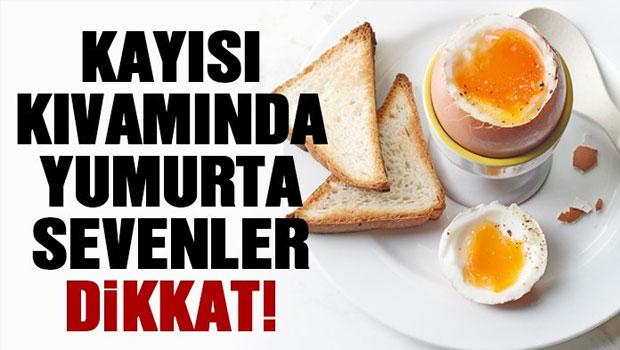 Kayısı kıvamında yumurta sevenler dikkat!