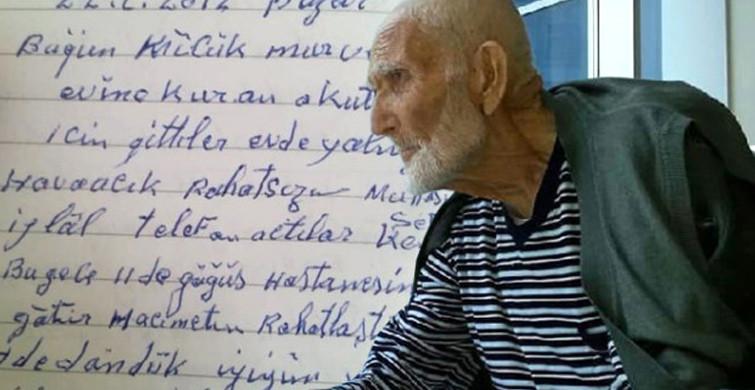 100 Yaşında Hayatını Kaybeden Dedenin Günlüğünde Yazanları Okuyanlar Göz Yaşlarına Boğuldu