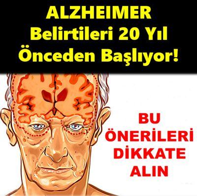 Alzheimer'i bu belirtiler ele veriyor