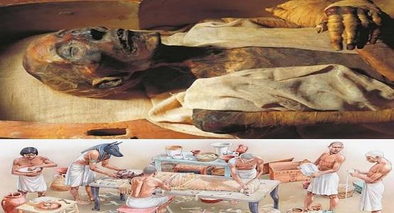 Antik Mısır'da Mumyalama İşlemi.