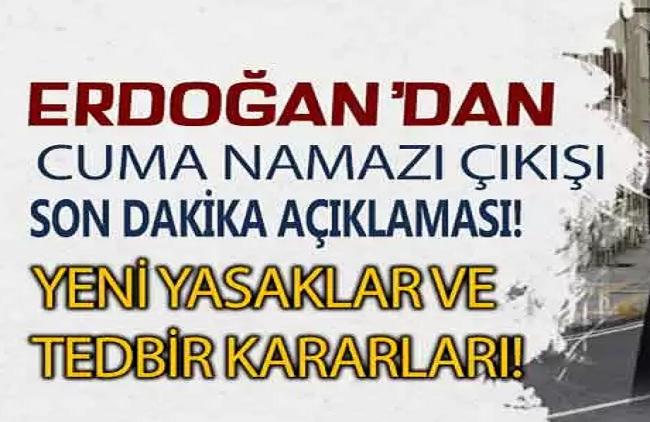Cumhurbaşkanı Erdoğan'dan kafe ve restoranlara kötü haber