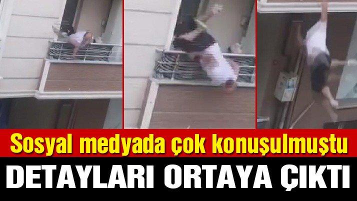 Evinin Balkonundan Sokaktaki Akrabalarıyla Tartışırken Balkondan Düşen Adamın Görüntüleri Sosyal Medyada Şok Etkisi Yarattı