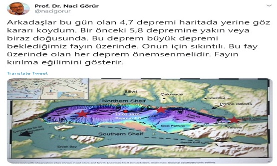 İstanbul'da Gerçekleşen Deprem Sonrası Korkutan Uyarı