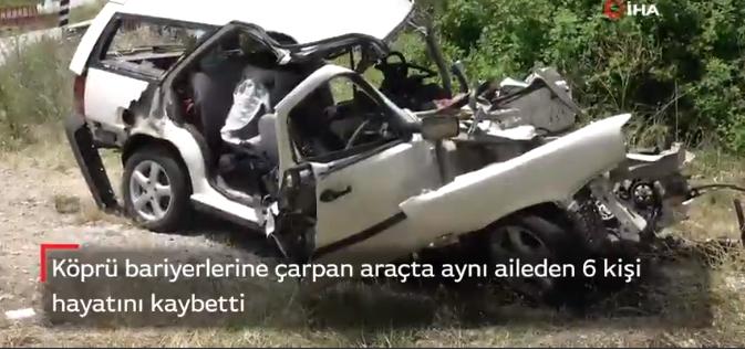 Katliam Gibi Kaza: Trafik Kazasında Aynı aileden 6 kişi hayatını kaybetti