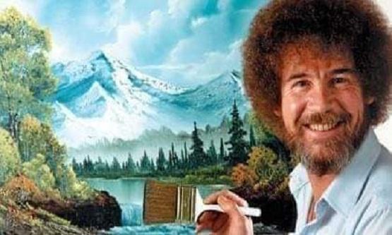 """Küçük Mutlu Ağaçlar"""" denildiğinde aklınıza ilk kim gelir?  Elbette Ressam Bob Ross."""
