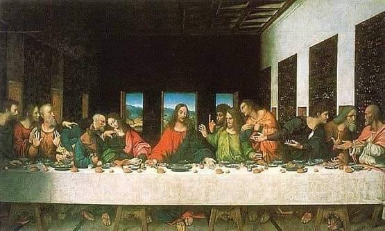Leonardo da Vinci nin meşhur son yemek tablosu.