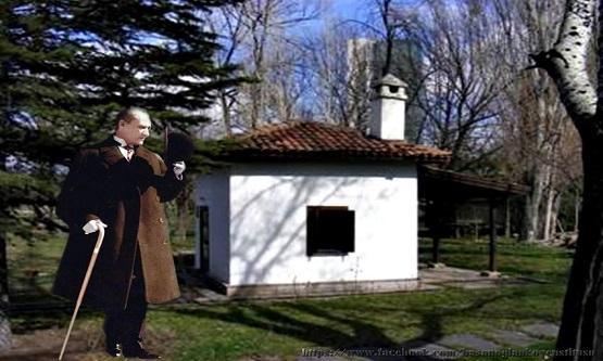 Mustafa Kemal Atatürk 1926 yılında Ankara'da Söğütözü civarında yaptığı gezilerin birinde uzaktan bir köylünün kulübesini görür.