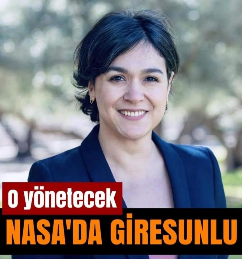 NASA ekibini, Giresun Bulancaklı hemşerimiz Türk bilim insanı Betül Kaçar yönetecek.