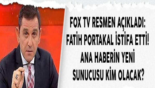 Son Dakika: Fatih Portakal Fox Ana Haberden İstifa Etti.  Gerekçesini Bu Şekilde Paylaştı