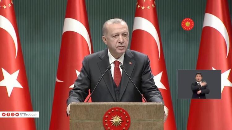 Son Dakika: Kabine toplantısının ardından Cumhurbaşkanı Erdoğan yeni corona virüsü tedbirlerini açıkladı