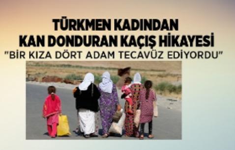Türkmen bir kadın kan donduran kaçış hikayesini anlattı