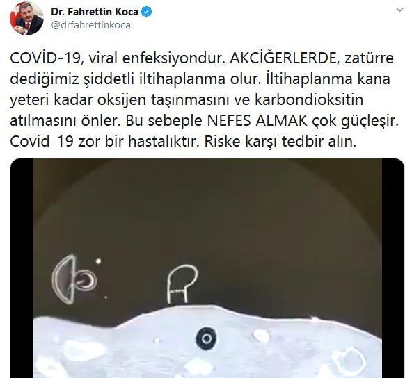Sağlık Bakanı Fahrettin Koca Adım Adım Corona Aşamasını Paylaştı