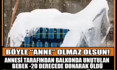 Annesi Tarafından Pusetiyle -20 Derecede Balkona Konulan Bebek Donarak Öldü
