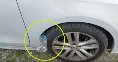 Aracınızın Tekerleğinde Bu Şekilde Bir Şişe Bulursanız Eğer Dikkat!