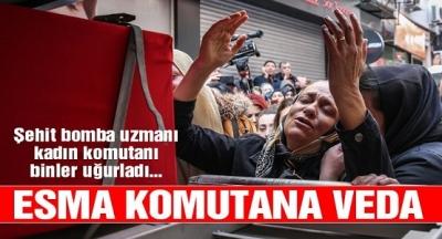 Astsubay Üstçavuş Esma Çevik'in Cenaze Töreni: Esma Astsubay'ın Cenazesinde Yürekleri Dağlayan Görüntüler