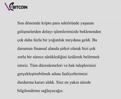 Bir kripto para şirketi daha kapandı