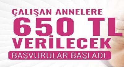Çalışan Annelere 650 Lira Yardım Desteği Veriliyor: İşte Başvuru Şartları