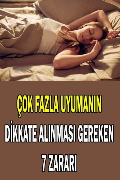 Çok Fazla Uyumanın Sağlığa Zararları