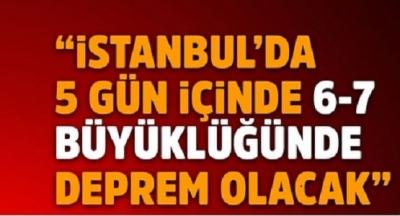 Deprem Kahininden Korkutan Açıklama: 5 Gün İçinde İstanbul'da 6-7 Büyüklüğünde Bir Deprem Gerçekleşecek