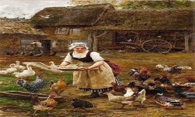 Duvardaki çatlaktan bakan fare, çiftlik sahibi ile karısının bir paket açtıklarını gördü.