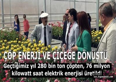 Eskişehir'de bir yıllık çöp ile 76 milyon kilowatt enerji üretildi
