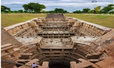 Hindistan'ın Gucerat kentindeki Patan kasabasında muhteşem bir mimari ile inşa edilmiş çok basamaklı bir kuyudur.