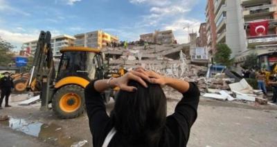 İzmir depreminde yürek yakan olay! Deniz yükseldi, su altında kalarak can verdi