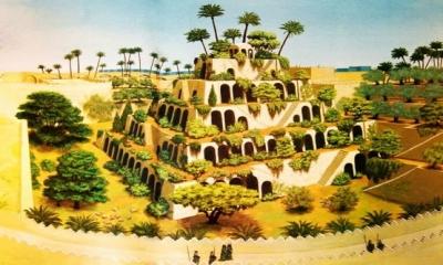 Kaynaklara Babil'in Asma Bahçeleri, milattan önce 7. yüzyılda Babil kralı Nebukadnezar tarafından yaptırılmıştır.