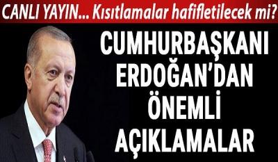 Kısıtlamalar Ne Zaman Sona Erecek? Aşı Ne Zaman Yapılacak? Cumhurbaşkanı Erdoğan'dan Önemli Açıklamalar