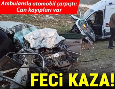 Korkunç Kaza: Ambulans ve Otomobil Çarpıştı, Çok Sayıda Ölü ve Yaralı Var