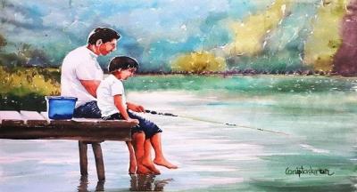 On bir yaşındaydı ve New Hampshire gölünün ortasındaki adadaki evlerinde ne zaman eline bir fırsat geçse hemen balığa giderdi.