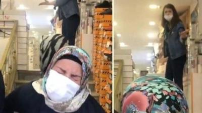 Pes dedirten anlar: Genç Kız İstediği ayakkabıyı almayan annesini merdivenden itti!