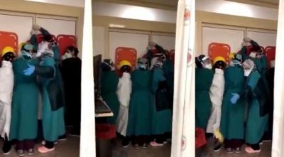Pes Dedirten Olay: Hasta Yakınları Sağlık Çalışanlarına Saldırdı, Sağlık Çalışanları Canlarını Korumak için Barikat Kurdu