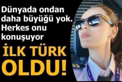 Safiye Ademoğlu Türkyılmaz, dünyanın en büyük yolcu uçağı Airbus A380'i uçuran ilk Türk kadın pilot oldu.