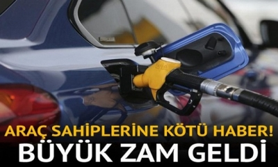 Son Dakika: Dizel Ve Benzine Büyük Zam Geldi