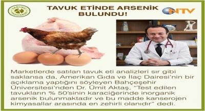 TAVUK ETİNDE ARSENİK BULUNDU!