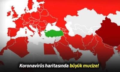 Türkiye'ye Neden Virüs Bulaşmıyor?Sağlık Bakanı Koca'nın Paylaştığı Haritadaki Sır