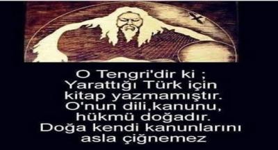 Türklerde Kök Tengri inancı. (Mavi gökyüzü)