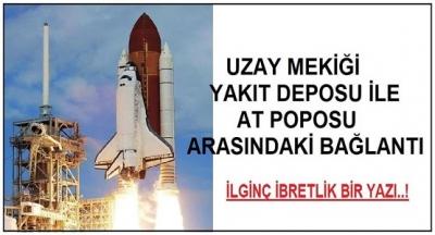 Uzay Mekiği Yakıt Tankı İle At Poposu Arasındaki Bağlantı..!