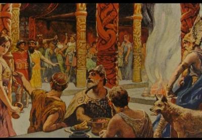 Valhalla, İskandinav mitolojisinde ölen savaşçıların, Tanrı Odin'in de evi olan Asgard'da gideceği görkemli salondur.