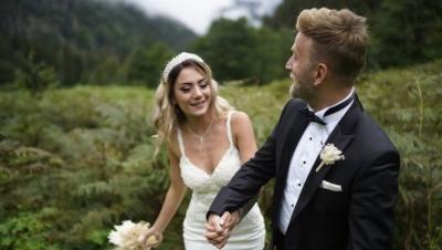 Doğada Düğün Fotoğrafı Çektiren, Gelin ile Damadı Şoke Eden An!