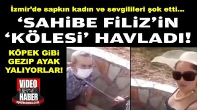 İzmir'de kendisini 'Sahibe Filiz' olarak tanıtan kadın sevgilisine tasma takıp, parkta gezdirdi!